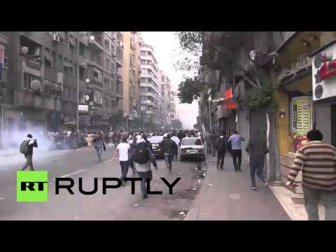 Egypt: Running battles throughout Cairo as protesters head to Tahrir