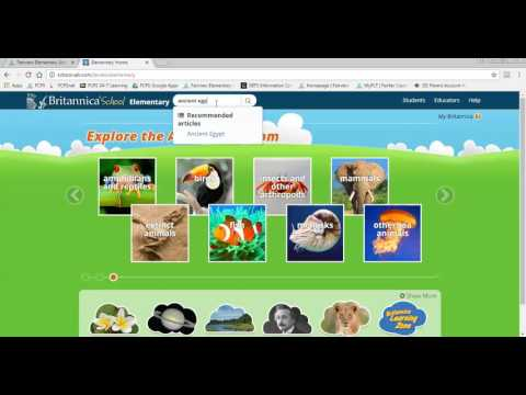 Encyclopedia Britannica Elementary Tutorial