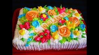 Украшение торта ЦВЕТАМИ Мастер класс по украшению торта