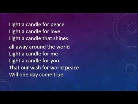 Light a Candle for Peace with lyrics