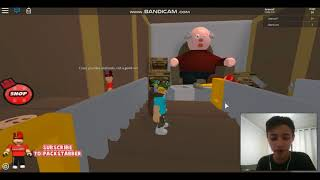Roblox - O VOVO ESTA BRAAVOO!!! (Escape the Grandfather) c/webcam