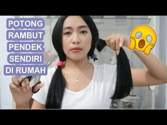Nekat Potong Rambut Pendek Sendiri Di Rumah Youtube