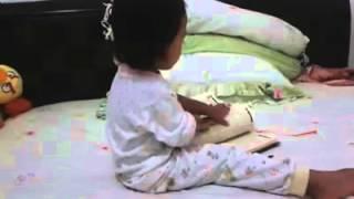 anak bayi dan balita belajar ngaji lucu banget