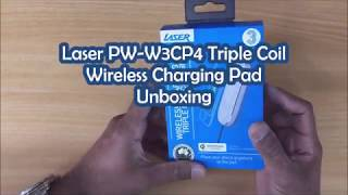 Laser PW-W3CP4 Triple Coil Wireless Charging Pad Unboxing