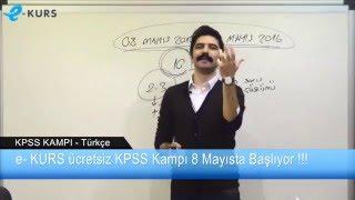 e-KURS KPSS Online Kampı Başlıyor - Rüştü Bayındır ile Türkçe