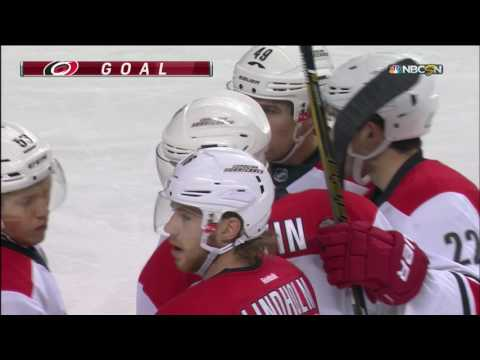 Slavin deflects puck into on own net, redeems himself soon after