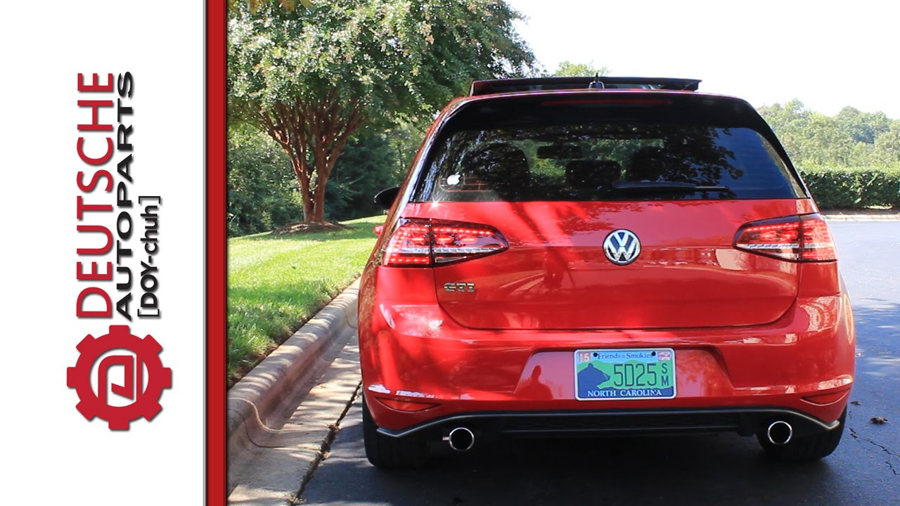 Mk7 Golf Gti Led Tail Light Plug And Play Operation No Coding Or Wiring A European Changes Youtube