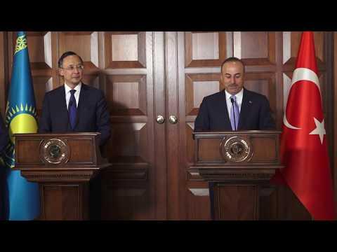 Dışişleri Bakanı Sayın Mevlüt Çavuşoğlu'nun Kazakistan Dışişleri Bakanı ile Ortak Basın Toplantısı
