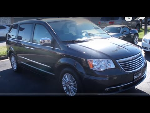 2012 Chrysler Town Country Limited Walkaround Start Up Tour And