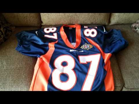 Ed McCaffrey authentic jersey with custom sleeves.