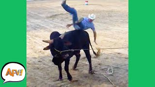 From COWBOY to Cow-OUCH! 😂 | Funny Fails | AFV 2021