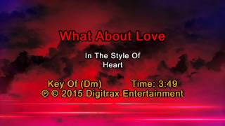 Heart - What About Love (Backing Track)