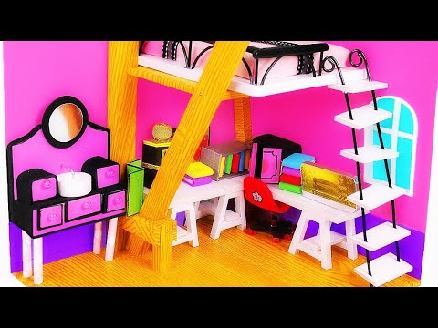 DIY Marinette&39;s Miniatures ~ Dollhouse Room Backpack Diary