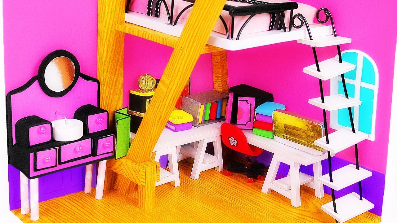 Shoe Box Dollhouse Craft For Kids: DIY Doll House By Using A Shoebox DIY Craft T Miniatures
