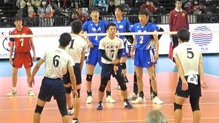 洛南高校 vs 市立尼崎高校 2セット目 春高バレー2019男子準決勝 バレーボール