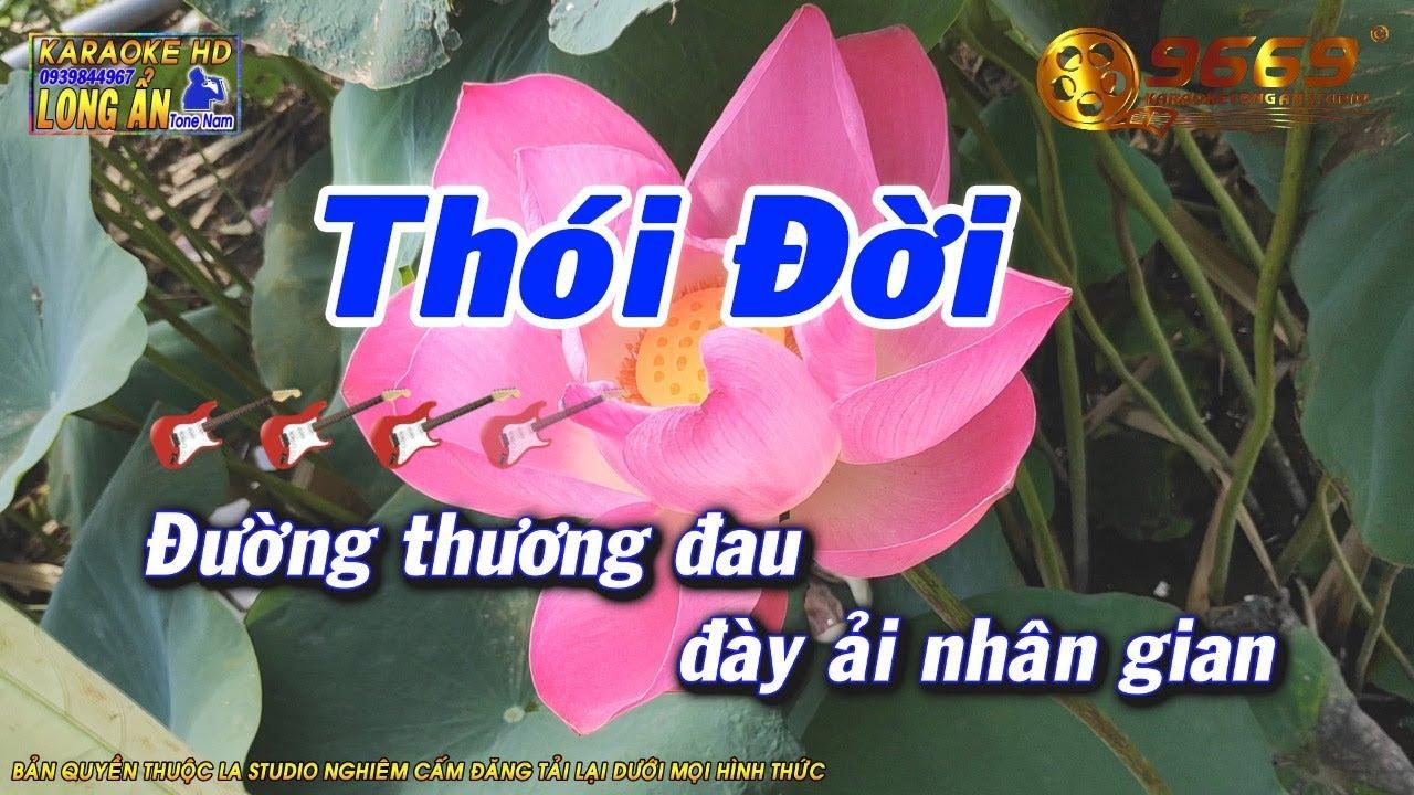 Karaoke Thói đời Tone Nam Beat Long ẩn 9669 Youtube