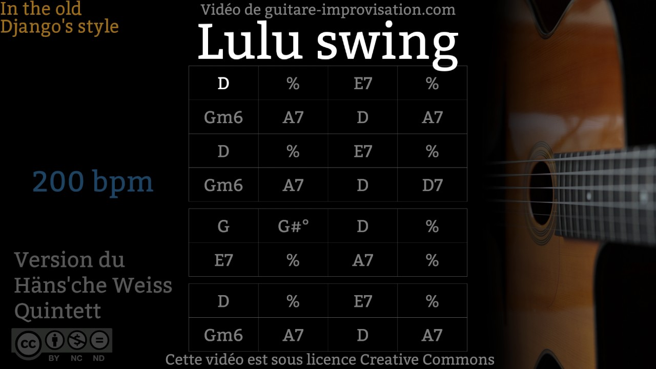 Lulu Swing 200 Bpm Gypsy Jazz Backing Track Jazz Manouche