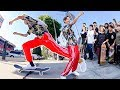 SKATE MOB TAKES OVER STREETS (ADIDAS X SHOE PALACE)