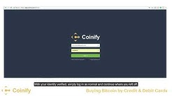 Buying Bitcoin with Card - Coinify Trade