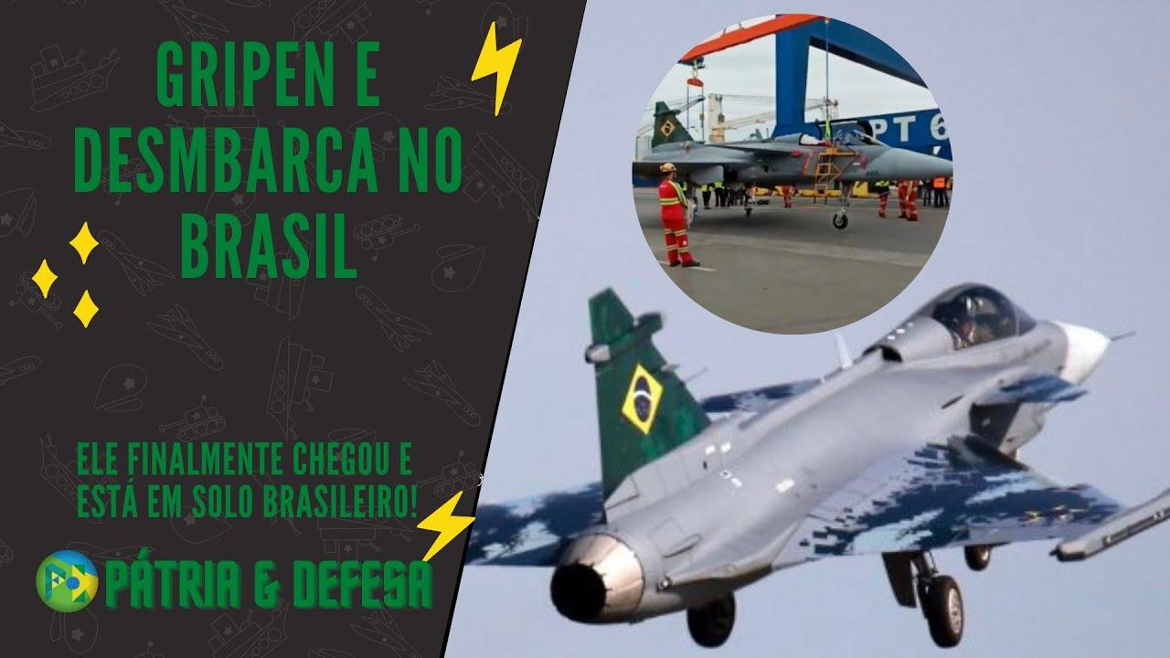 Chegou o Novo Caça do Brasil - O Gripen E já está em solo Brasileiro. Assista o desembarque!