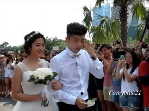 Wooyoung and seyoung wedding cakes