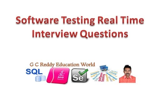 Software Testing Real Time Interview Questions