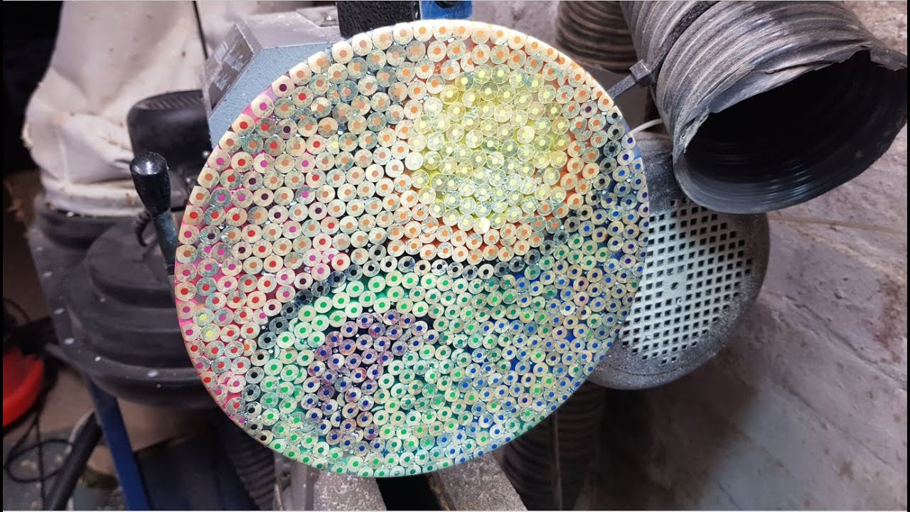 Woodturning - Coloured Pencil Mosaic