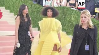 Solange Knowles says group of white women demanded she sit at concert, then threw a lime at her