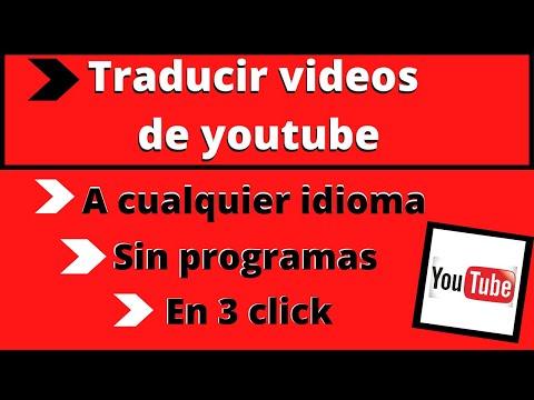 🟢 Como Traducir Videos de Youtube a Español 👉 PC  - Android - iphone 2020.