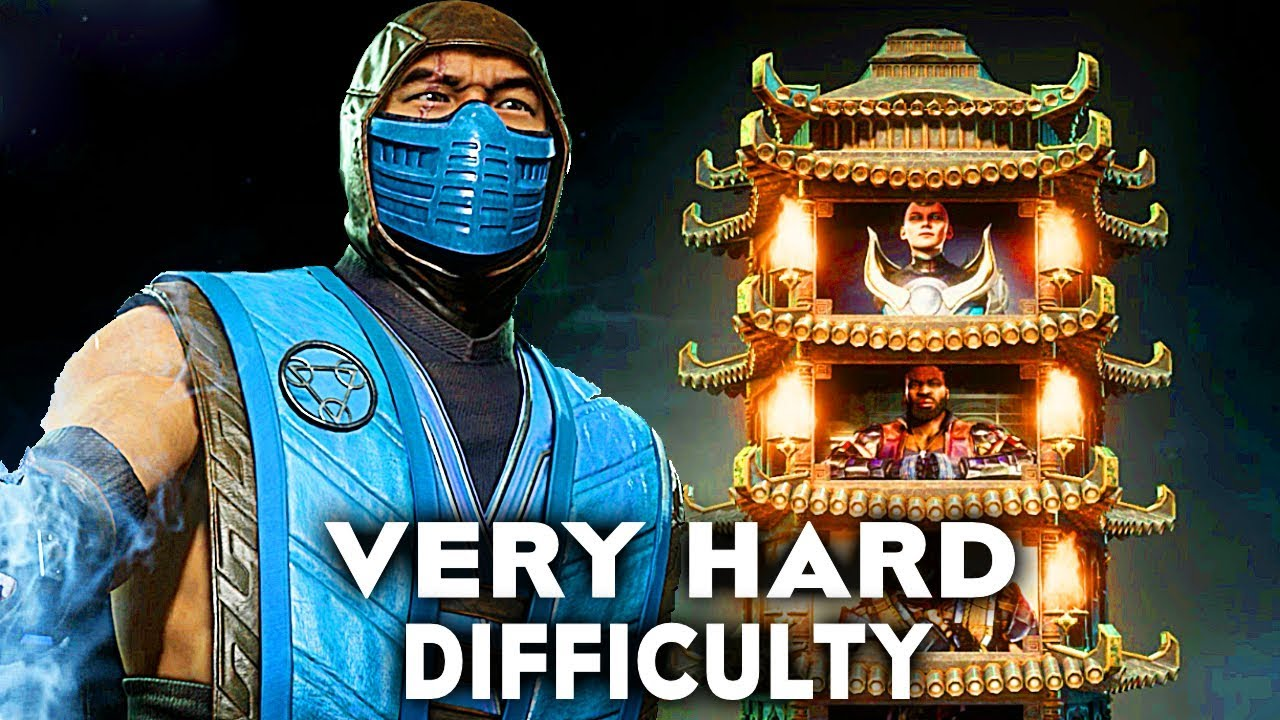 Mortal Kombat 11 Sub Zero Klassic Tower Very Hard Difficulty Gameplay (No Commentary)