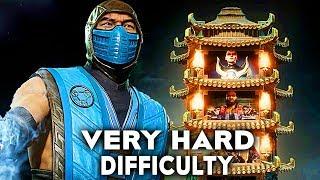Mortal Kombat 11 Sub Zero Klassic Tower Very Hard Difficulty Gameplay (No Commentary)