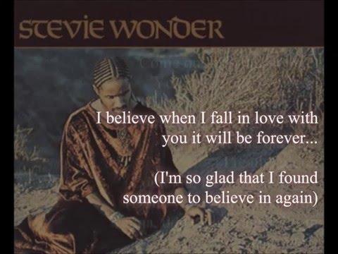 Stevie Wonder - I Believe When I Fall In Love It Will Be Forever (lyrics)
