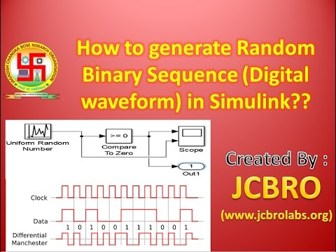 How to generate random binary sequence in simulink ??