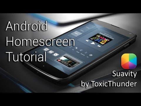 Suavity (by Toxic Thunder) - Android Homescreen Tutorial
