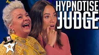 Judge Gets Hypnotised and CAN'T STOP Laughing! | Magicians Got Talent Video