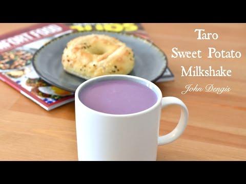 Taro and Sweet Potato Milk Shake   John Dengis