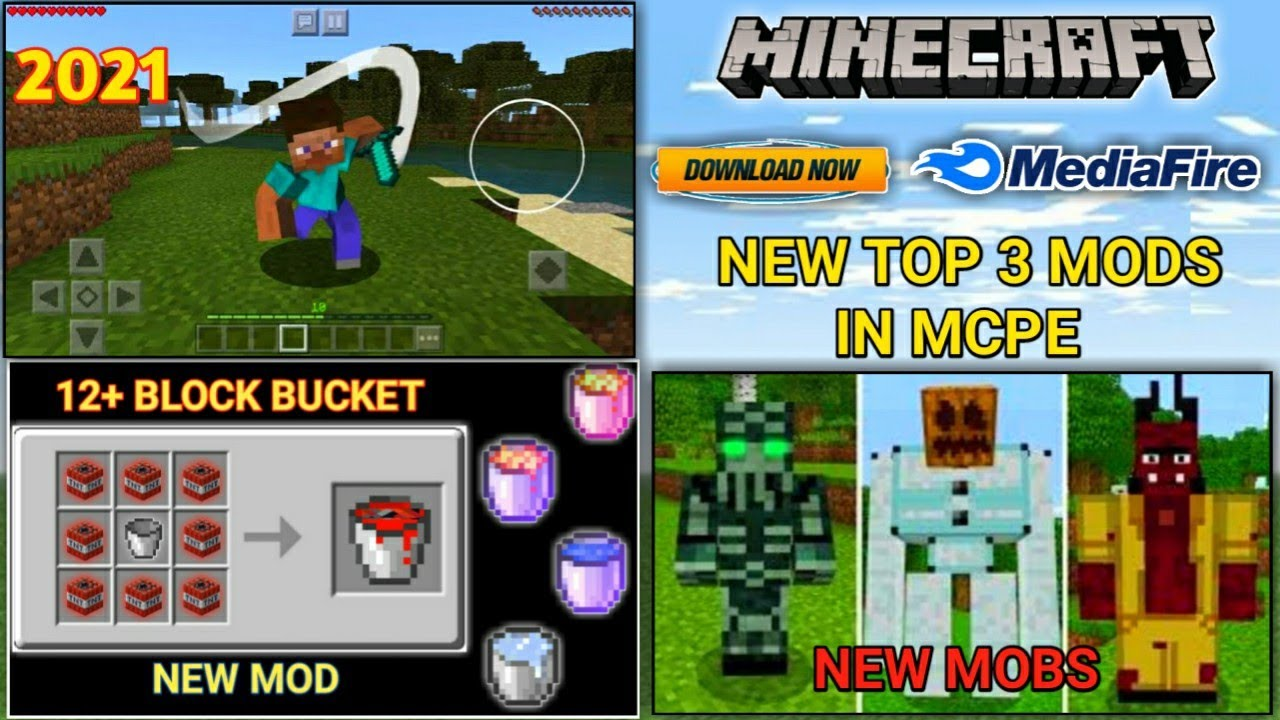 Download How To Download New Top 3 Mods In Minecraft pe ! MEDIAFIRE !【UNIVERSE GAMER】