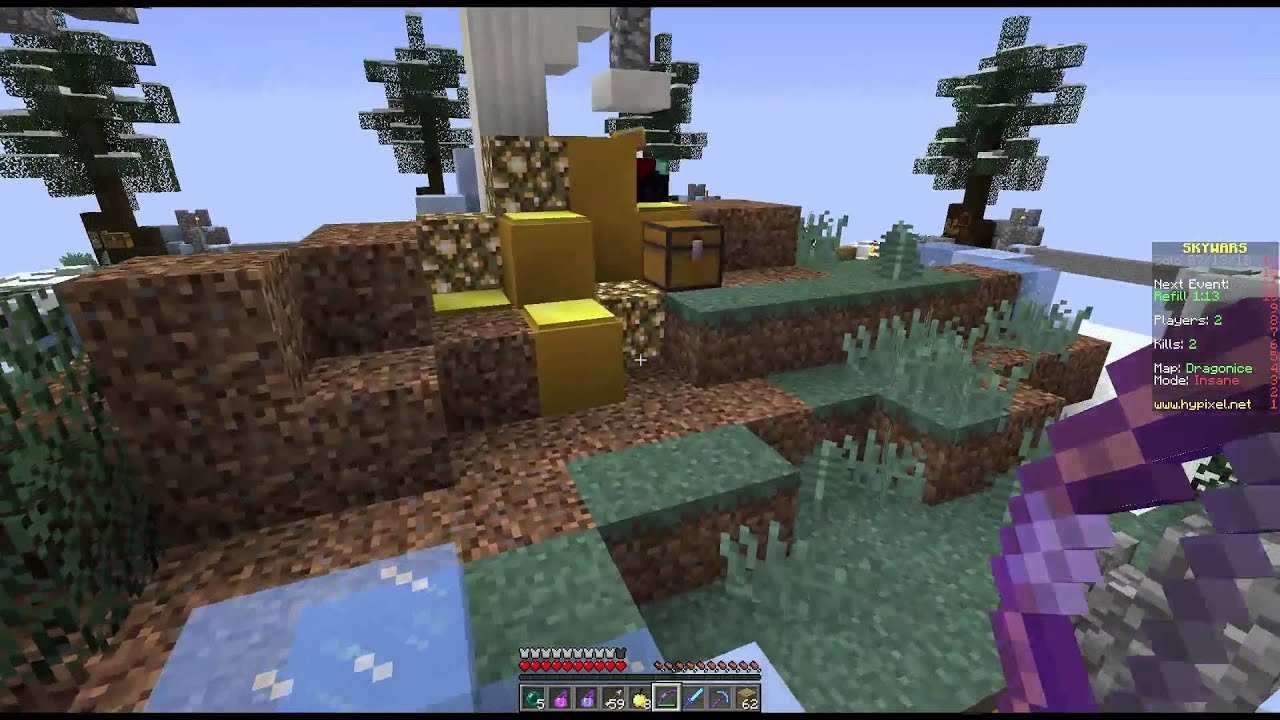 Minecraft INSANE MODE Sky Wars (And Server IP) - YouTube