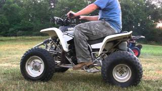 2000 Yamaha Blaster Blaster four wheeler manual 200cc 2x4 racer bike white.