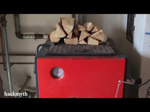 [Лайфхак] Правильная растопка котла Dakon на дровах ч.2 Топка