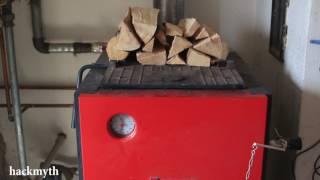 видео Твердотопливный котел длительного горения Dakon