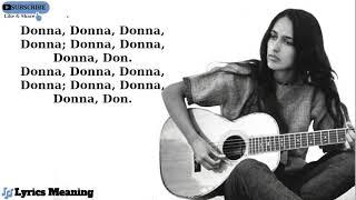 Joan Baez - Donna Donna   Lyrics Meaning