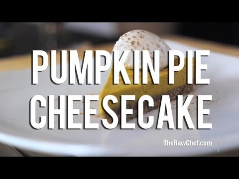 The Raw Chef TV | Raw food pumpkin pie recipe