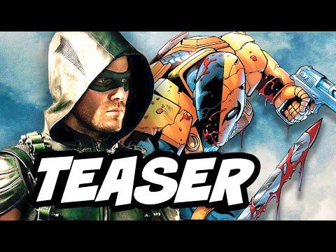 Arrow Season 5 100th Episode Deathstroke Teaser Breakdown