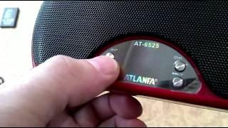 Обзор портативной SUPER колонки Atlanfa AT 6525 stereo 3D.