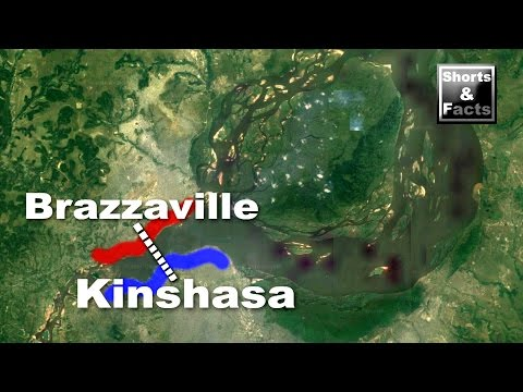 Why are Kinshasa & Brazzaville so close together? (Shorts & Facts) #9
