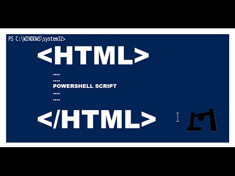 Powershell Script Output As HTML Page