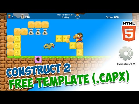 Alex Kidd In Miracle World - FREE TEMPLATE CAPX (Modified Demo Game - Construct 2)