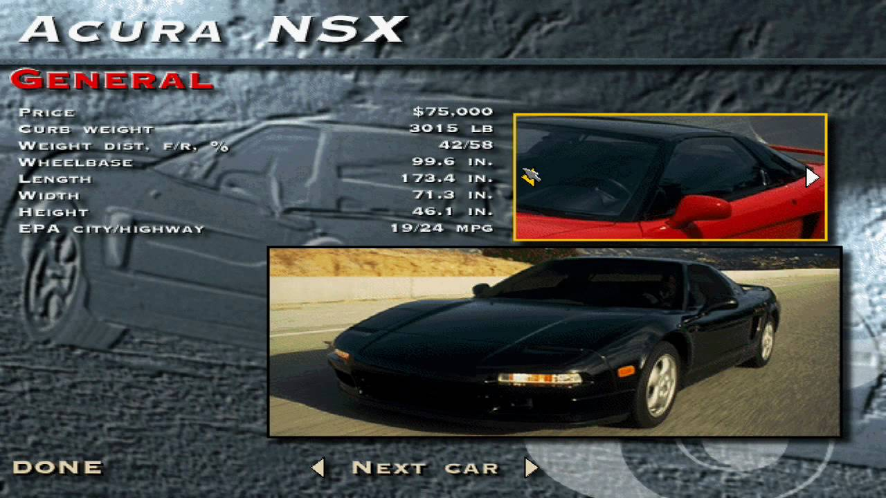 Video - The Need for Speed SE - Acura NSX Showcase | Need for Speed