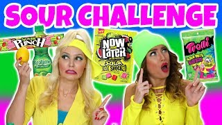 Sour Candy and Food Challenge. Trolli Sour Bites, Sour Punch, Sour Bears and More. Totally TV